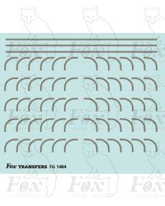 Corners in silver - Large-Radius 0.75mm