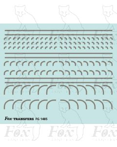 Corners in silver - Radius Corners, 3 sizes 0.75mm
