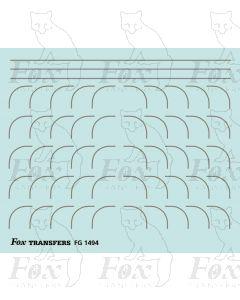 Corners in silver - Large-Radius 0.35mm