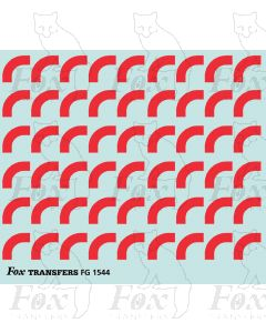 Corners in red - Large-Radius 2.5mm