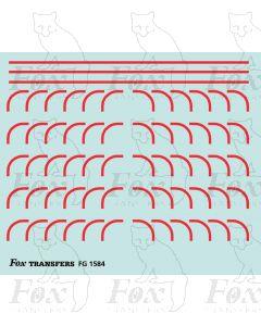 Corners in red - Large-Radius
