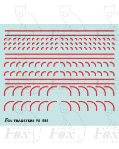 Corners in red - Radius Corners, 3 sizes 0.75mm