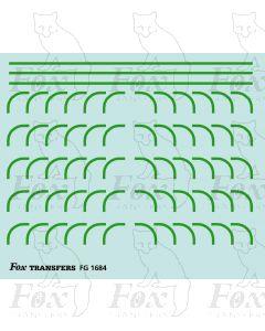 Corners in green - Large-Radius