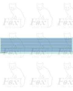 Lining in blue - Medium lines, 298mm x 0.75mm