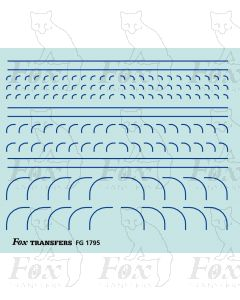 Corners in blue - Radius Corners, 3 sizes 0.35mm