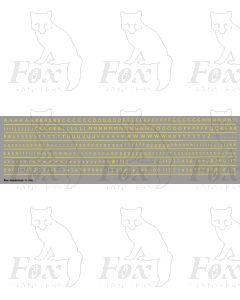 Alphabet in yellow - Gill Light, 3mm