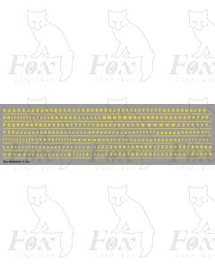 Alphabet in yellow - Franklin Heavy, 3mm