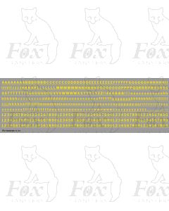 Alphabet in yellow - Franklin Heavy, 4mm