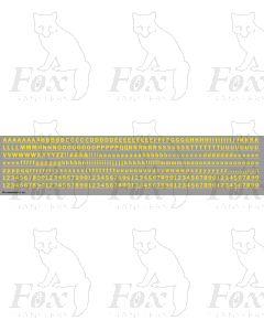Alphabet in yellow - Franklin Heavy, 5mm