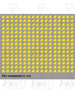 Corners in yellow - Small-Radius corners 2.5mm