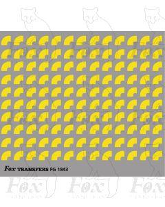 Corners in yellow - Medium-Radius corners 2.5mm