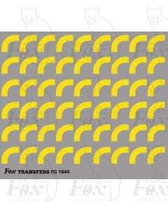 Corners in yellow - Large-Radius 2.5mm