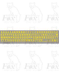 Alphabet in yellow - Franklin Heavy, 10mm