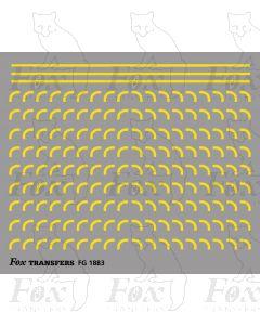Corners in yellow - Medium-Radius