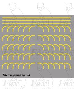 Corners in yellow - Large-Radius