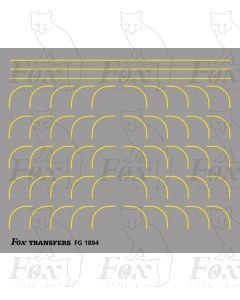 Corners in yellow - Large-Radius 0.35mm