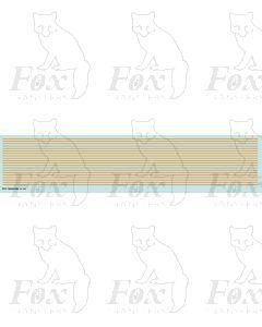 Lining in orange - Medium lines, 298mm x 0.75mm