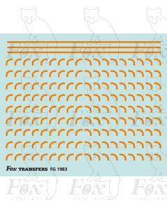 Corners in orange - Medium-Radius 0.75mm