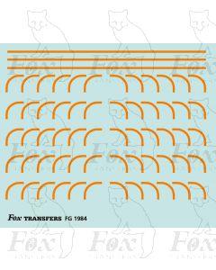 Corners in orange - Large-Radius 0.75mm