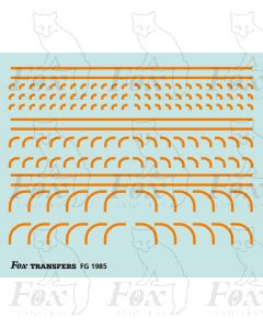 Corners in orange - Radius Corners, 3 sizes 0.75mm
