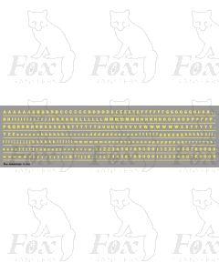 Alphabet in cream - Franklin Heavy, 3mm