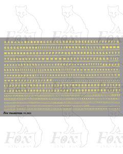 Alphabet in cream - Franklin Heavy, 2mm & 1mm
