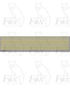 Lining in cream - Medium lines, 298mm x 0.75mm