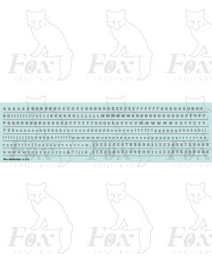 Alphabet in mid-grey - Franklin Heavy, 3mm