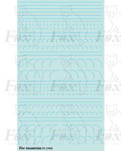 Corners in pale blue - Radius Corners, 3 sizes 0.35mm