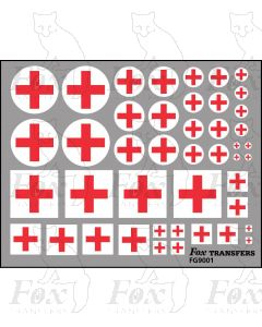 RED CROSS - 5 sizes, 2 styles