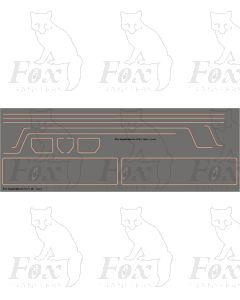 Standard Class 4 76XXX 2-6-0 Loco Lining Set with BR1 Tender Panels