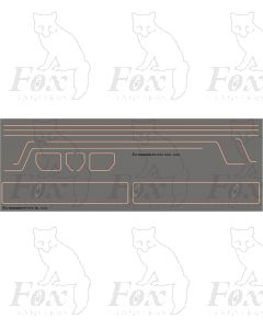 Standard Class 4 76XXX 2-6-0 Loco Lining Set with BR2 Tender Panels