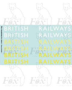 Original LNER style British Railways Lettering (9 inch)