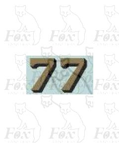 (14.75mm high) Gold/black shadow - 1 pair number 7