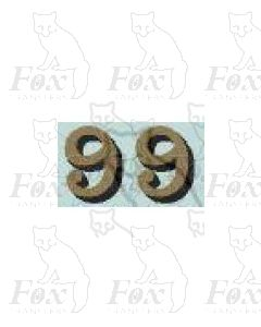 (14.75mm high) Gold/black shadow - 1 pair number 9