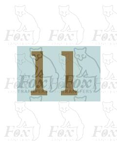 (11.25mm high) Gold - 1 pair number 1