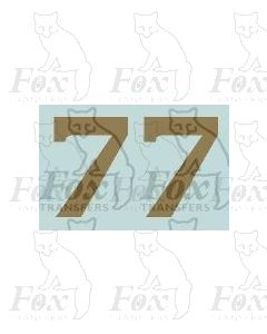 (11.25mm high) Gold - 1 pair number 7