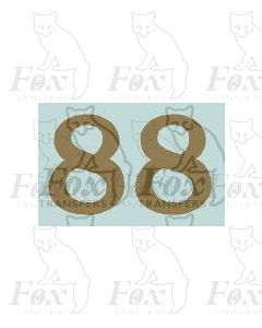 (11.25mm high) Gold - 1 pair number 8