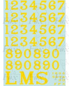 LMS 1927-late 1930s Lettering & Numbering