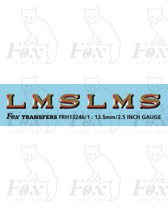 LMS 1920s style Coaching Stock Lettering