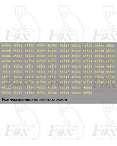 Steam Cabside Numbersets 45500-45551