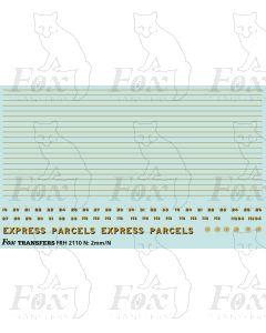 GWR RAZOR-EDGE RAILCAR - EXPRESS PARCELS
