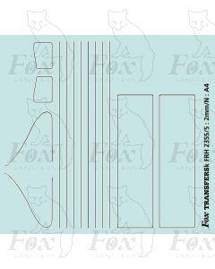 Gresley A4, P2 & B17 Loco Lining Set