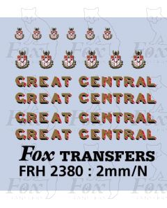 Great Central Loco Lettering & Crests