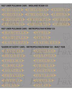 Pullman Namesets