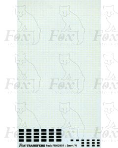 Freight Vehicle Running Numbersets, second part - Plus 12T, 13T and 16T