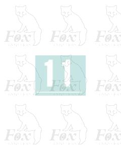 White numbers - 10mm high - 1 pair number 1