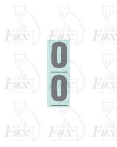 Silver - 9.75mm high - 1 pair number 0