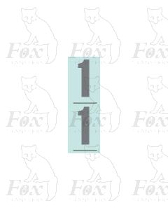 Silver - 9.75mm high - 1 pair number 1