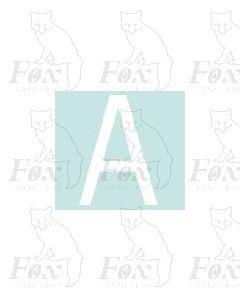 Alpha-Numerics. White 20mm high - 1 x letter A